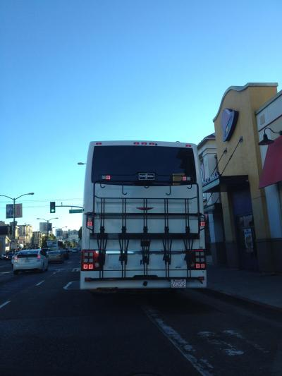 Google bus blocking traffic